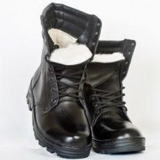 Ботинки с высоким берцем «ОМОН» (высота 25 см) нат. мех. (овчина)