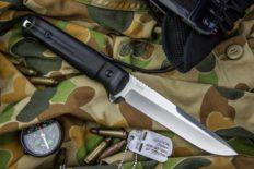 Тактический нож «Alpha» AUS-8 Stonewash