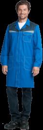 Халат КМ-10 ЛЮКС василковый с т.синим