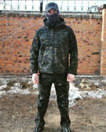 Костюм тактический демисезонный «ESDY» Softshell (КМФ черный мультикам)