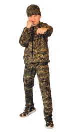 Костюм детский трикотажный «ТИгР» серо-зеленая цифра (куртка + брюки 100%х/б)