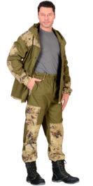 Костюм «Горка» куртка, брюки (п-но палаточн.+отделка тк.Кроун) КМФ Саванна