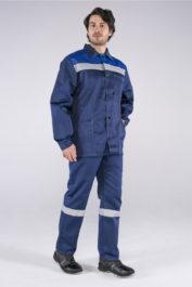 Костюм Стандарт СОП (тк.Смесовая,210) брюки, т.синий/васильковый