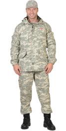 Костюм демисезоный «Горка-люкс» куртка, брюки, КМФ Пустыня